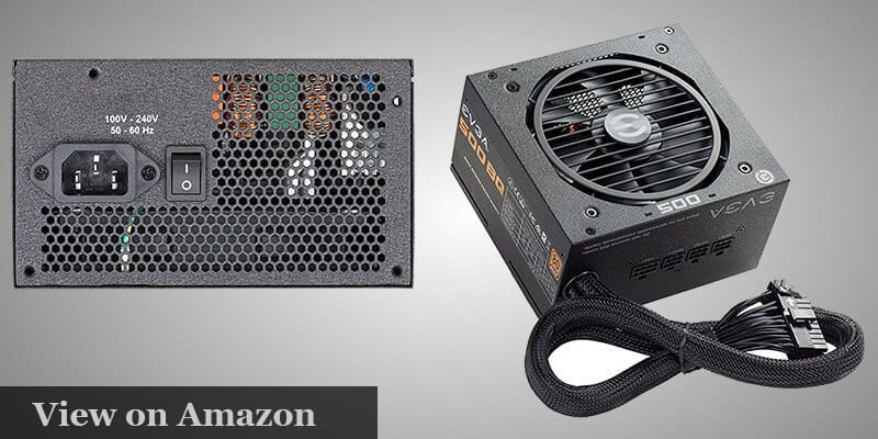 EVGA 500 BQ 80+ BRONZE 500W pc build under $1000