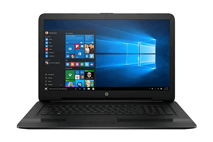 HP 17- best 17-inch laptops for gaming under 500 dollars