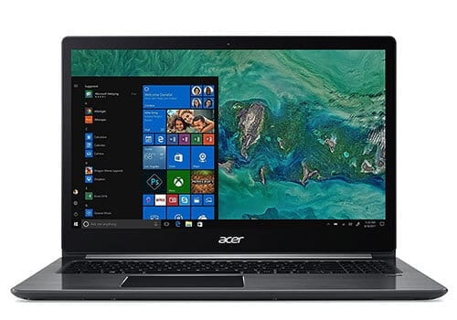 Acer Swift 3 with backlit keyboard