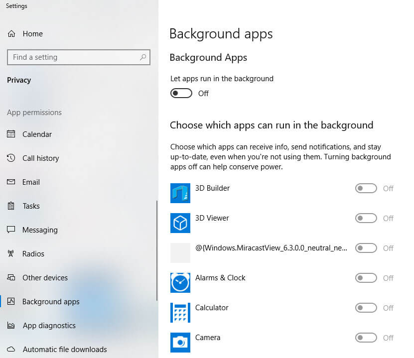 Closing Backgraound Apps