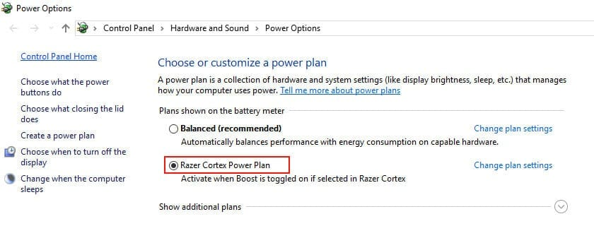 Max Power Plan settings